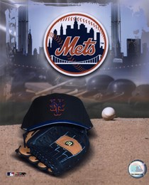 New York Mets - '05 Logo / Cap and Glove
