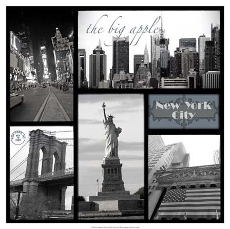 Snapshots of New York by Vision Studio art print