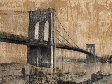 Brooklyn Bridge 2 by Dario Moschetta art print